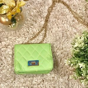 Green Quilted Leather Bag